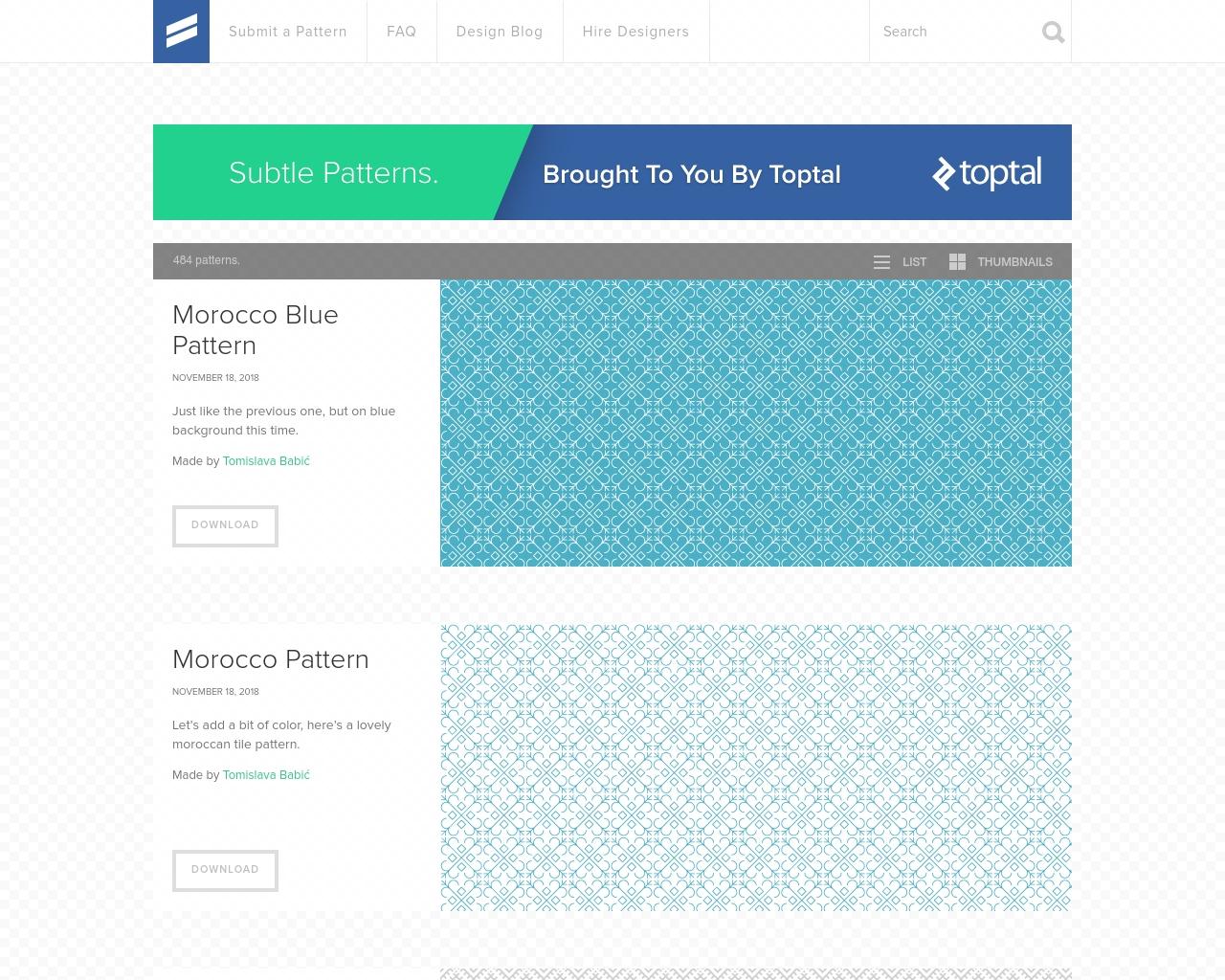 Subtle Patterns Screenshot 0